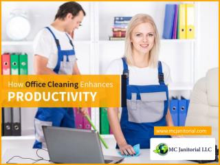 How a Clean Workspace can Improve Business Productivity