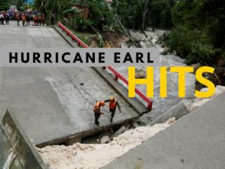 Hurricane Earl hits