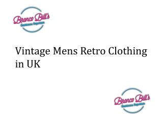 Vintage Mens Retro Clothing in UK