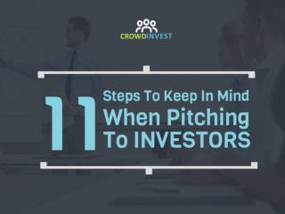 Don't Pitch on Monday! Here are 11 advise before you pitch to Investors.