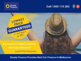 Simply Finance Provides Best Car Finance In Melbourne