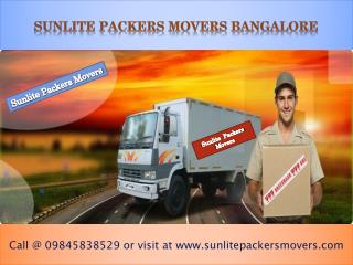 Sunlite Packers Movers Bangalore