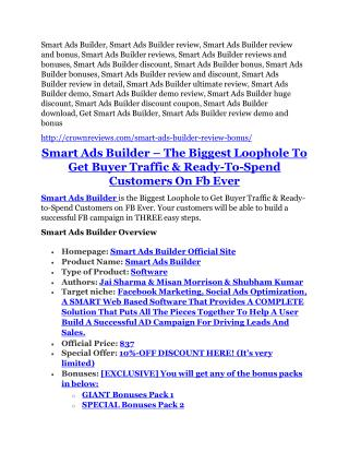 Smart Ads Builder Review & (BIGGEST) jaw-drop bonuses