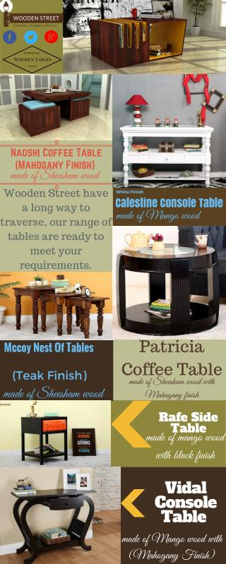 Online Tables @ Wooden Street at Discount