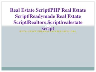 Real Estate Script|PHP Real Estate Script|Readymade Real Estate Script|Realtors Script|realestate script