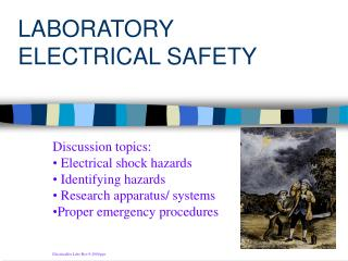 LABORATORY ELECTRICAL SAFETY