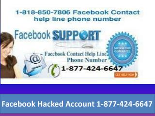 Facebook Hacked Account 1- (877)-424-6647</title>