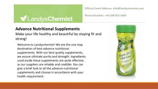 Advance Nutritional Supplements