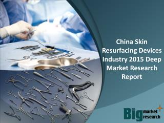 China Skin Resurfacing Devices Industry 2015 Deep Market Research Report