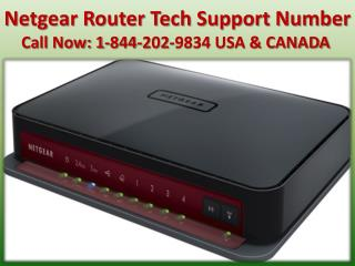 Netgear router connectivity problem via 1-844-202-9834 Netgear router tech support number
