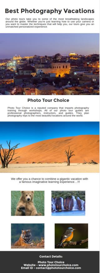 Best Photography Vacations