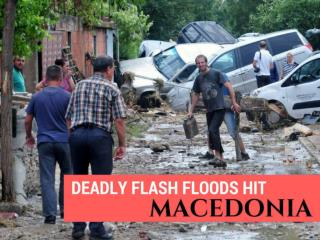 Deadly flash floods hit Macedonia
