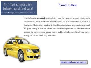 Basel to zurich