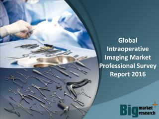 Global Intraoperative Imaging Market Professional Survey Report 2016