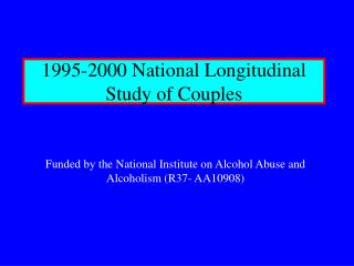 1995-2000 National Longitudinal  Study of Couples