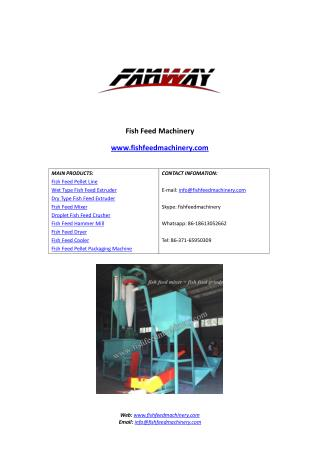 Fish Feed Mixer from FANWAY Fish Feed Machinery.pdf