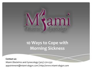 10 Ways to Cope with Morning Sickness