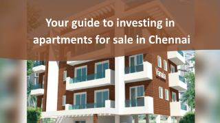 Your guide to investing in apartments for sale in Chennai