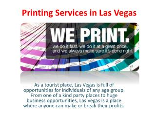Printing Services in Las Vegas