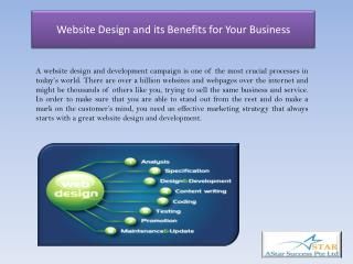 Website Design and its Benefits for Your Business