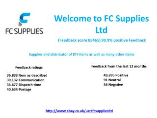 FC Supplies LTD - Supplier and distributor of DIY items as well as many other items