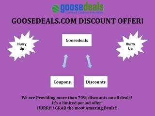 Goosedeals com Cashback coupons, Great Online Offers in India Sale Starts from Today