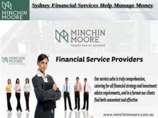 Sydney Financial services are the financial services gave by the account business