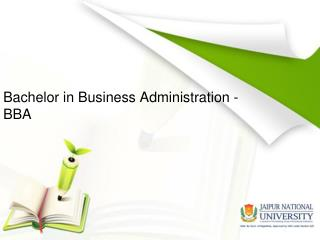 Bachelor in Business Administration - BBA