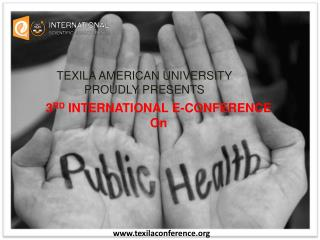 International e-Conference on Public Health
