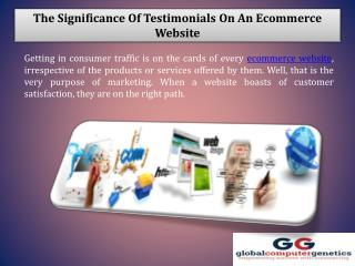 The Significance of Testimonials on an Ecommerce Website