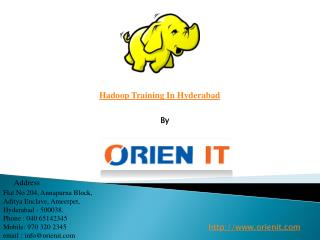 Hadoop Training In Hyderabad