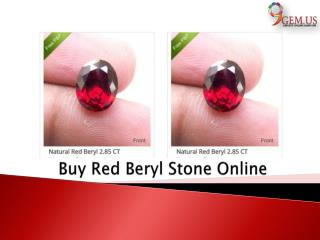 Buy Red Beryl Gemstone Online