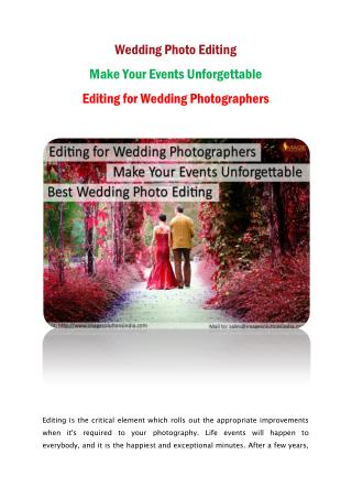 Wedding Photo Editing-Editing for Wedding Photographers