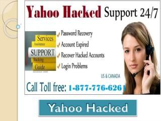 Acquire fast solution Call 1-877-776-6261 for Yahoo Hacked anywhere