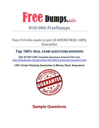 Free N10-006 Real Exam PDF&PPT Files