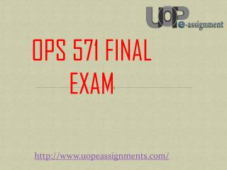 OPS 571 Final Exam - OPS 571 Final Exam 8 Different at Uopeassignments