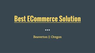 Provide Best ECommerce Solution Services In Beaverton