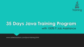 35 Days Java Training Program