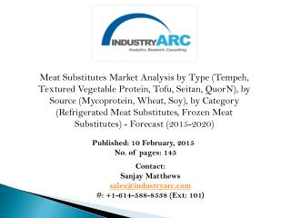 Meat Substitutes Market: soy based products comprises the highest market share.