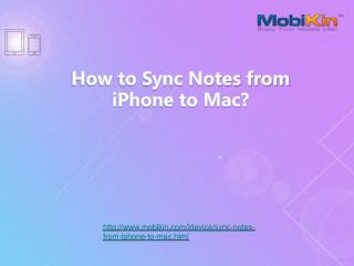 How to Sync Notes from iPhone to Mac ?