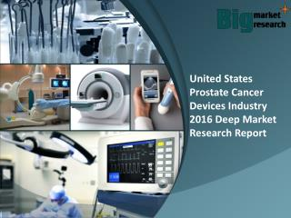 United States Prostate Cancer Devices Industry 2016 Report, Trends & Size