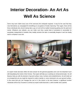 interior decorating services