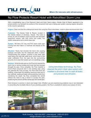 Nu Flow Protects Resort Hotel with Retrofitted Storm Line