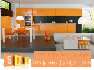 Choosing the Best Furniture From Kitchen Furniture Stores