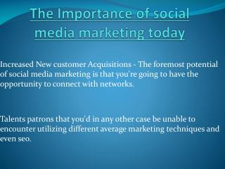 Importance of social media marketing these days
