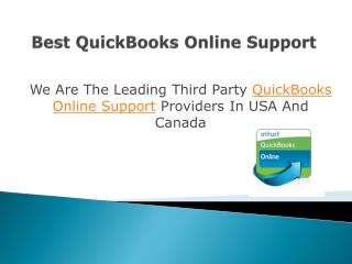 QuickBooks Online Support In USA And Canada