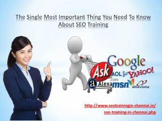 The Single Most Important Thing You Need To Know About SEO Training