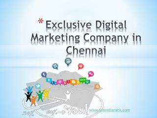Exclusive Digital Marketing Company in Chennai