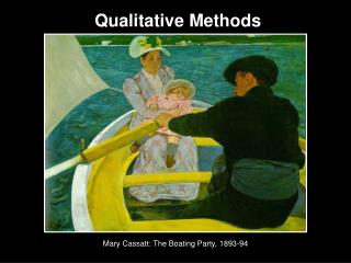 Mary Cassatt: The Boating Party, 1893-94