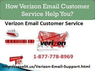 Verizon Email Tech Support 1-877-778-8969 Help You To Resolve Issues